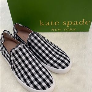 NIB Kate Spade Lilly Black/White Slip-On 7.5